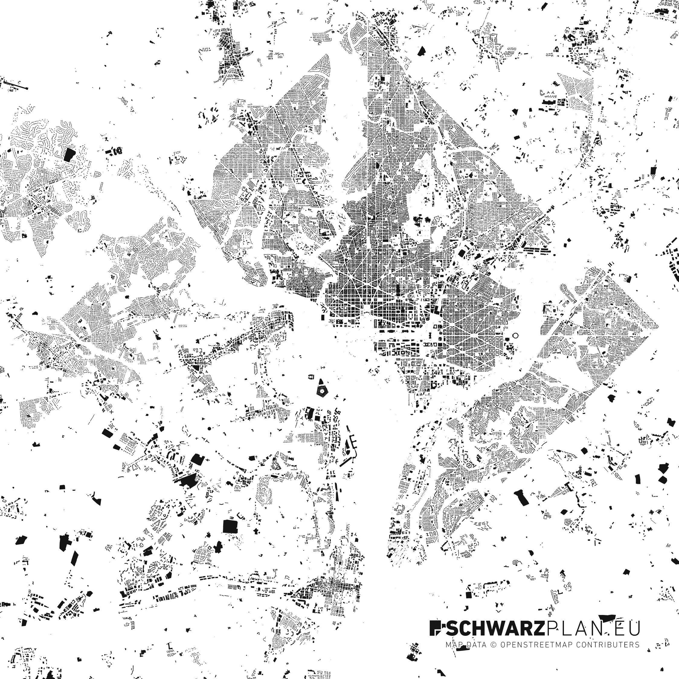 Washington Dc Map Download.Site Plan Figure Ground Plan Of Washington D C For Download As Pdf