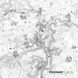 Schwarzplan von Aalen