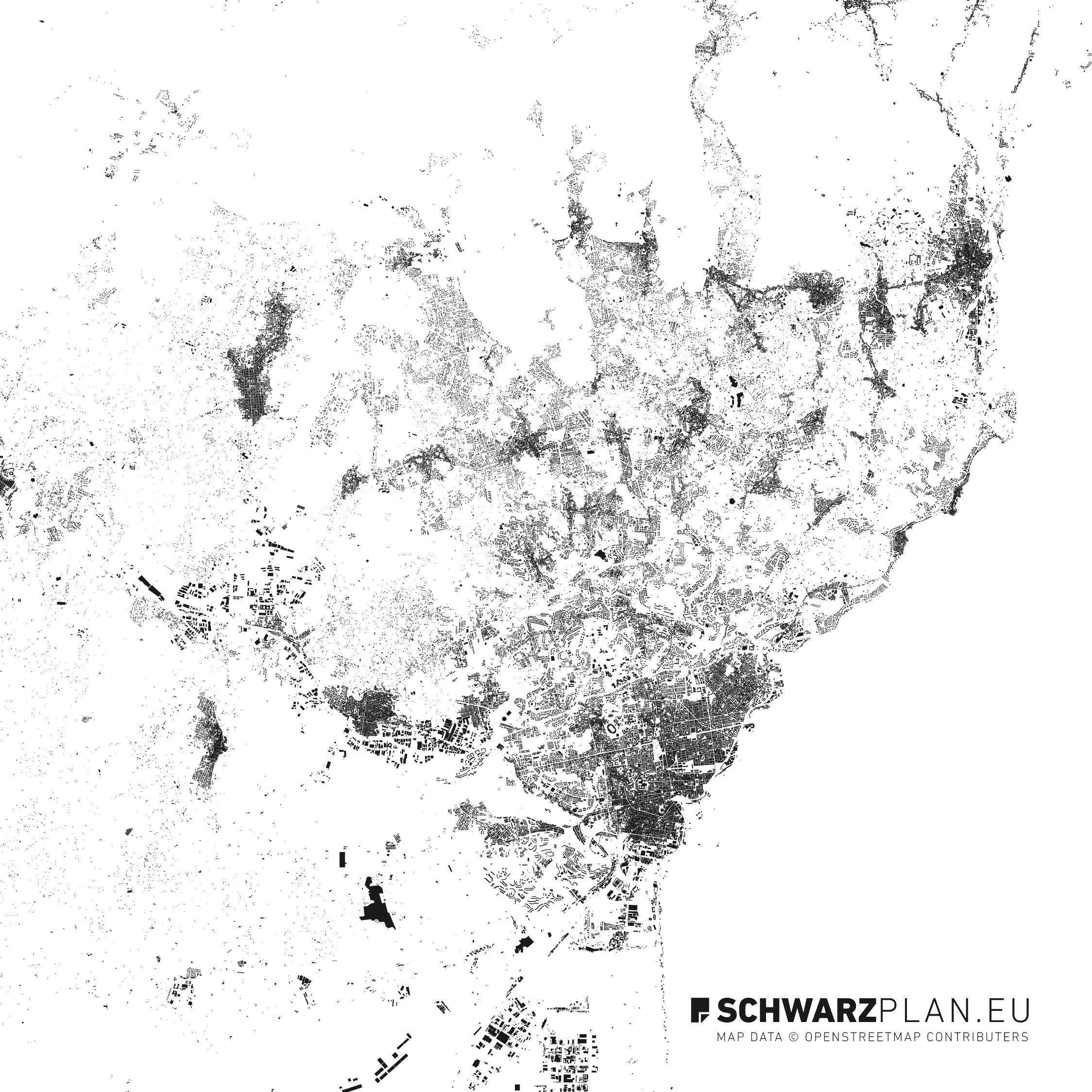 Figure Ground Plan of Catania