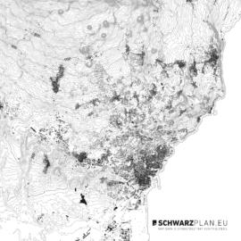 Schwarzplan von Catania