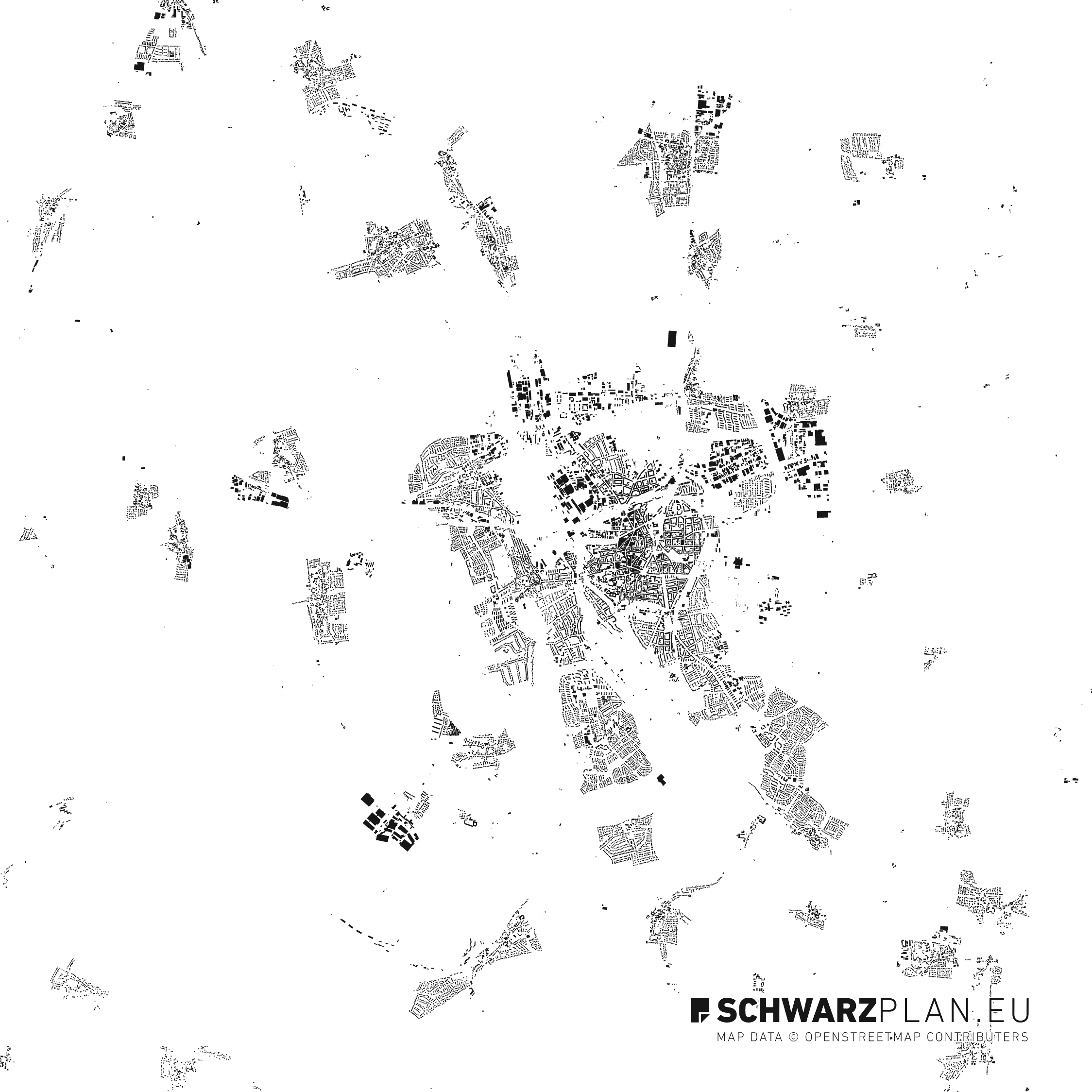 Figure Ground Plan of Hildesheim