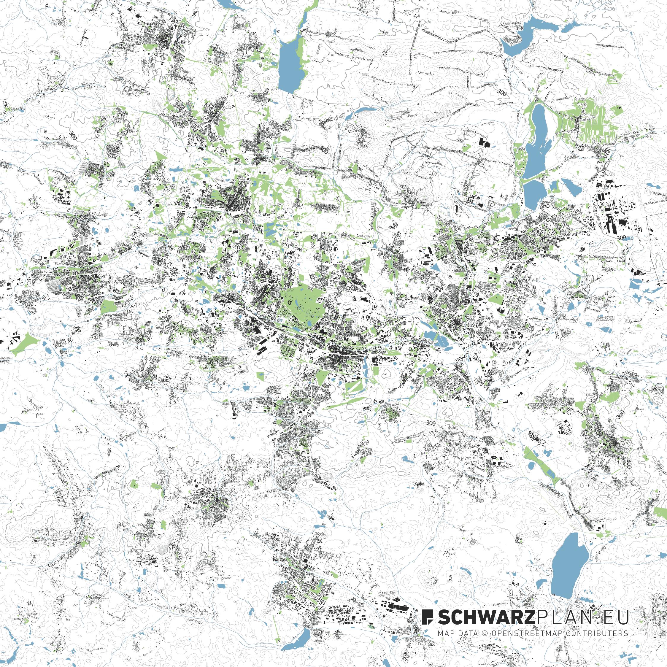 Lageplan von Kattowitz