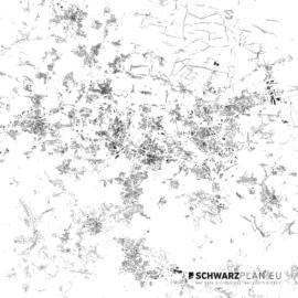 Schwarzplan von Kattowitz