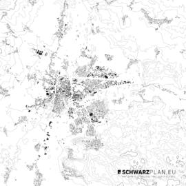 Schwarzplan von Königgrätz