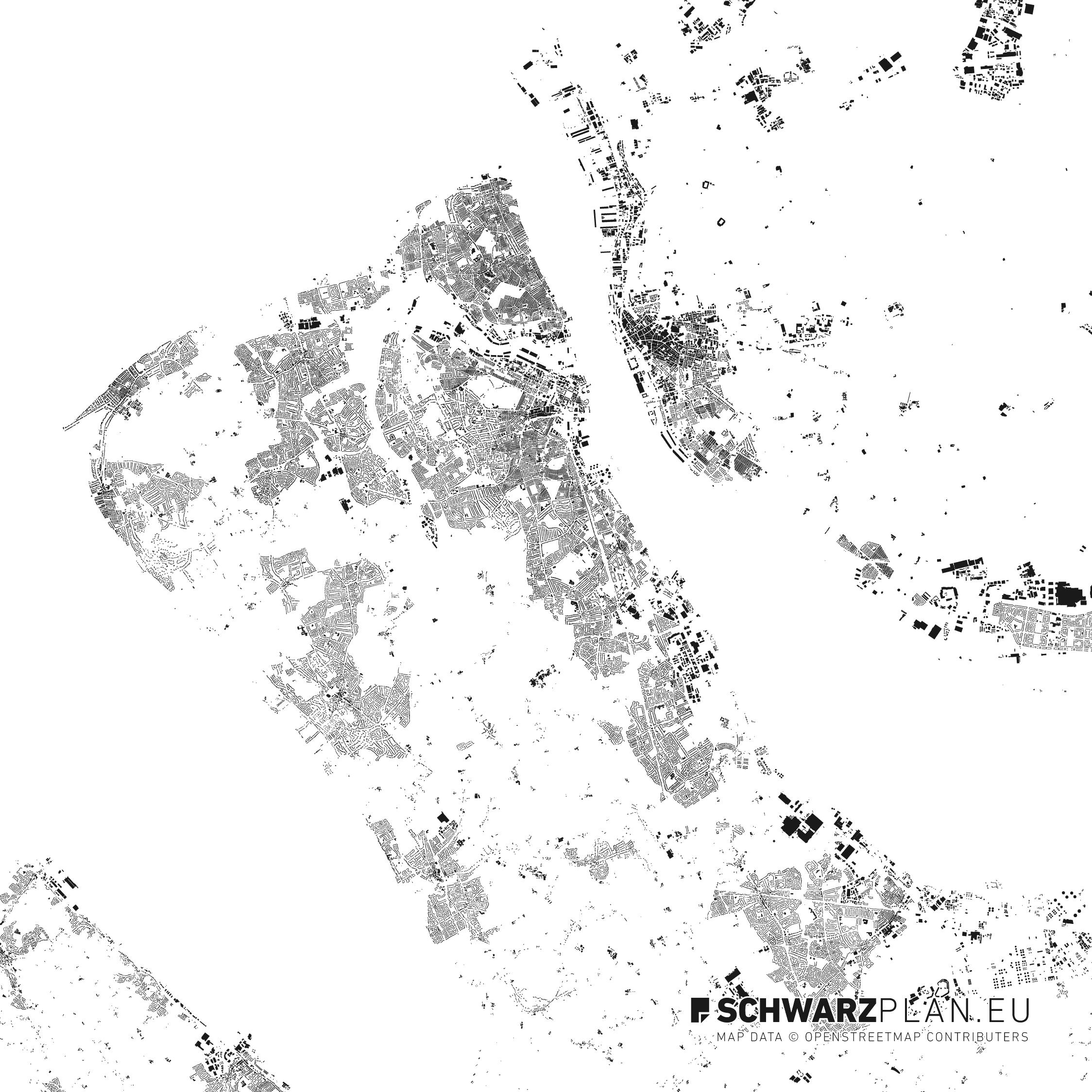 Figure ground plan of Liverpool