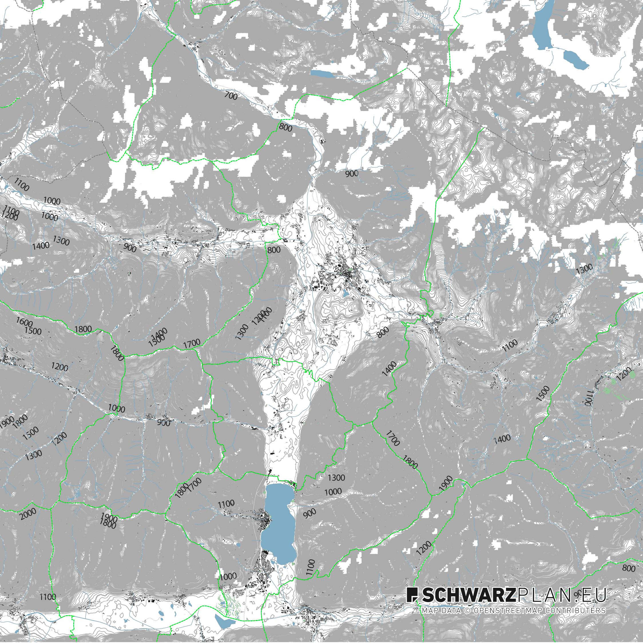 Lageplan von Saalfelden am Steinernen Meer