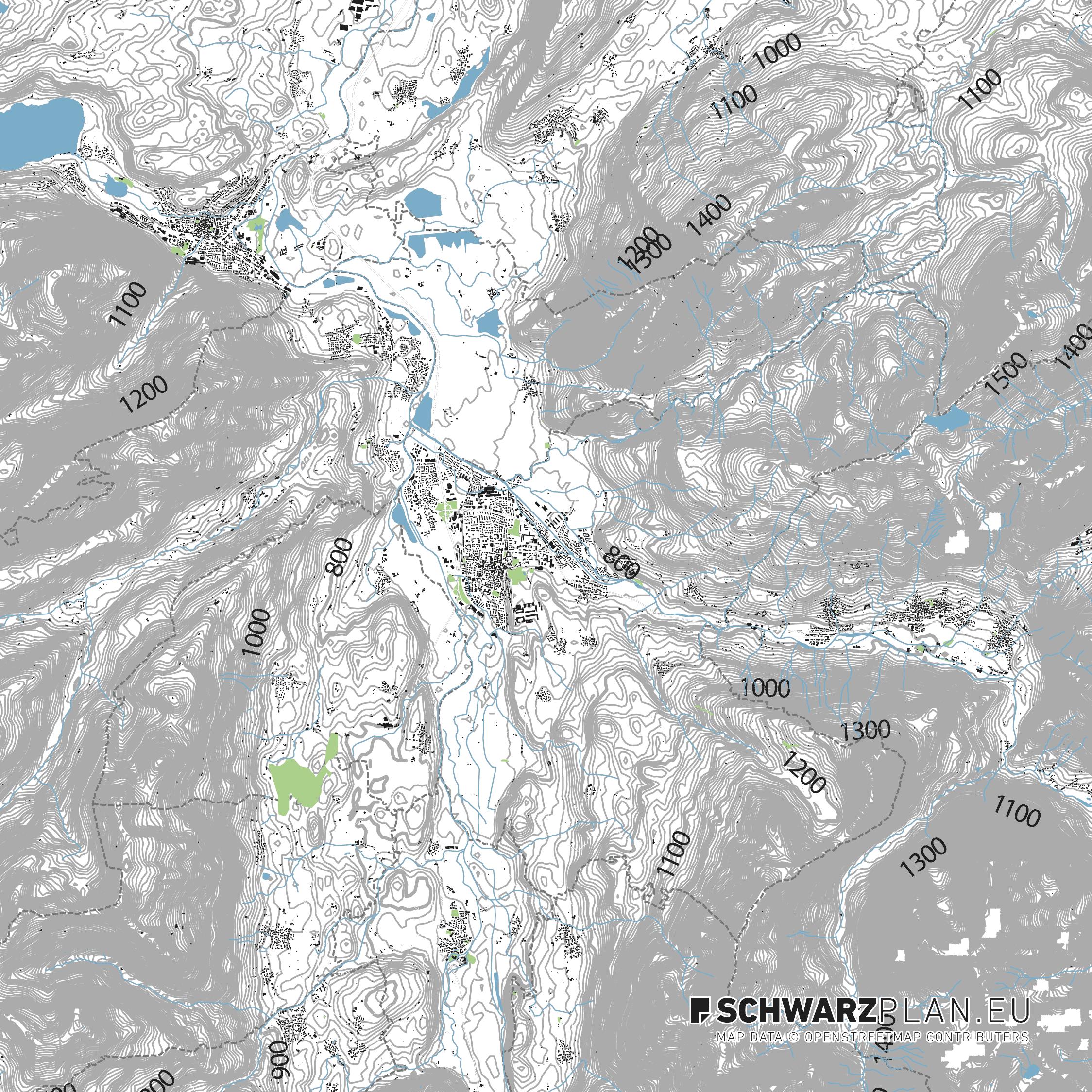 Lageplan von Sonthofen, Immenstadt & Oberstdorf