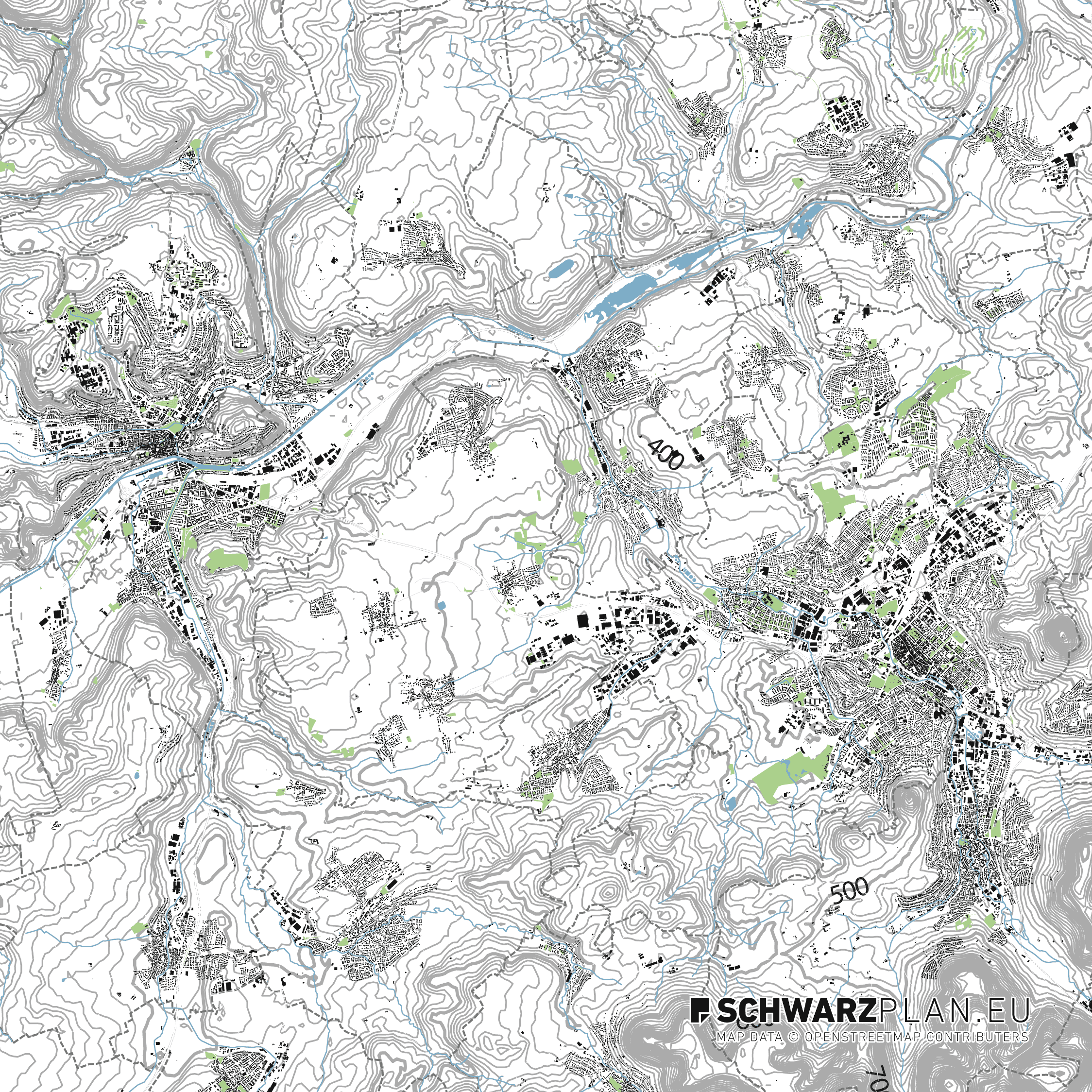 Site Plan of Tübingen and Reutlingen