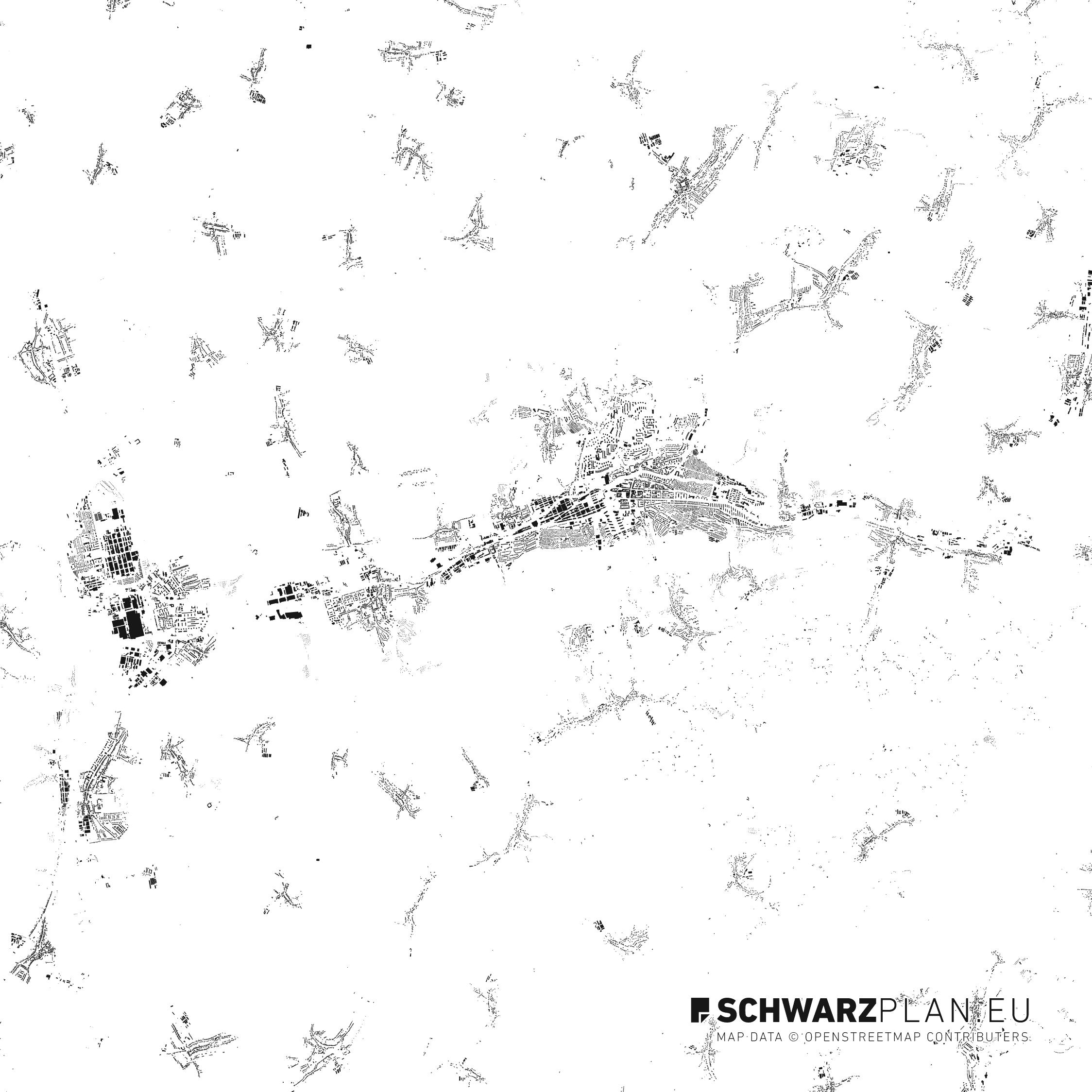 Figure Ground Plan of Zlin