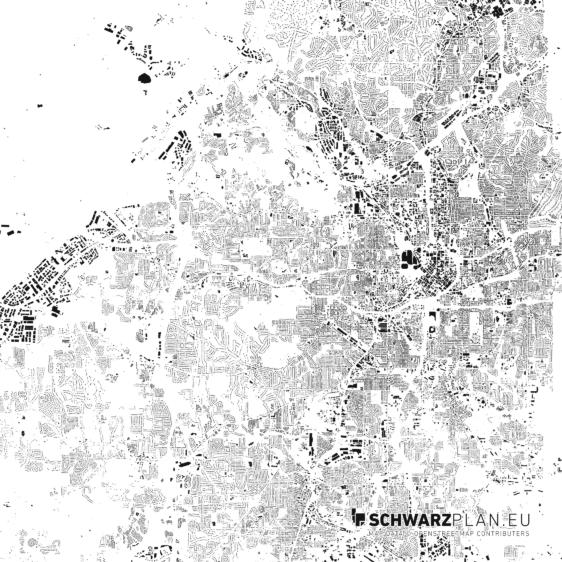 Schwarzplan von Atlanta
