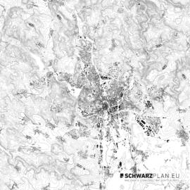 Schwarzplan von Brünn in Tschechien