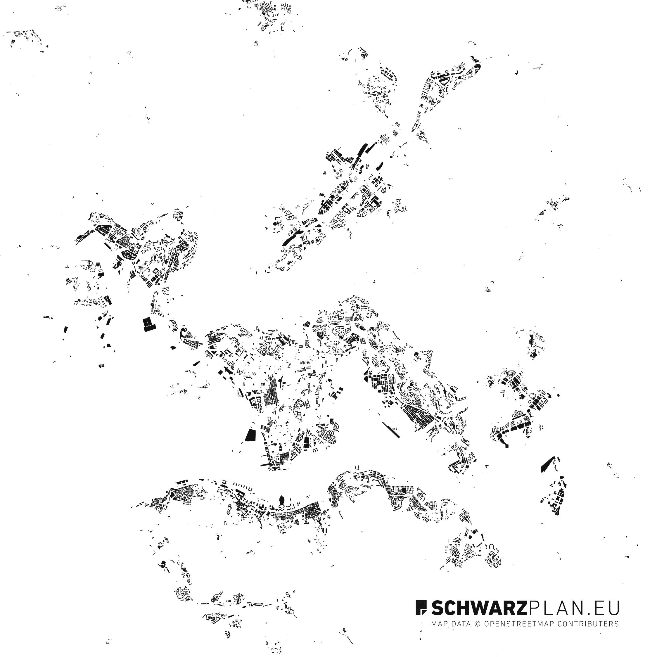 Figure ground plan of Hong Kong