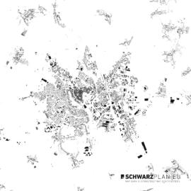 Schwarzplan von Olmütz in Tschechien