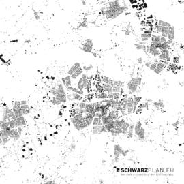 Schwarzplan von Breda in den Niederlanden