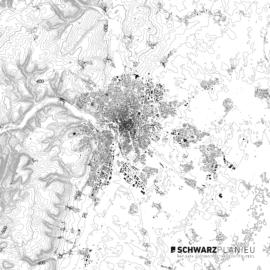 Schwarzplan von Dijon in Frankreich
