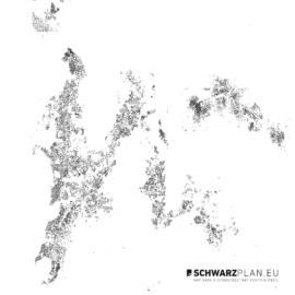 Schwarzplan von Mumbai in Indien