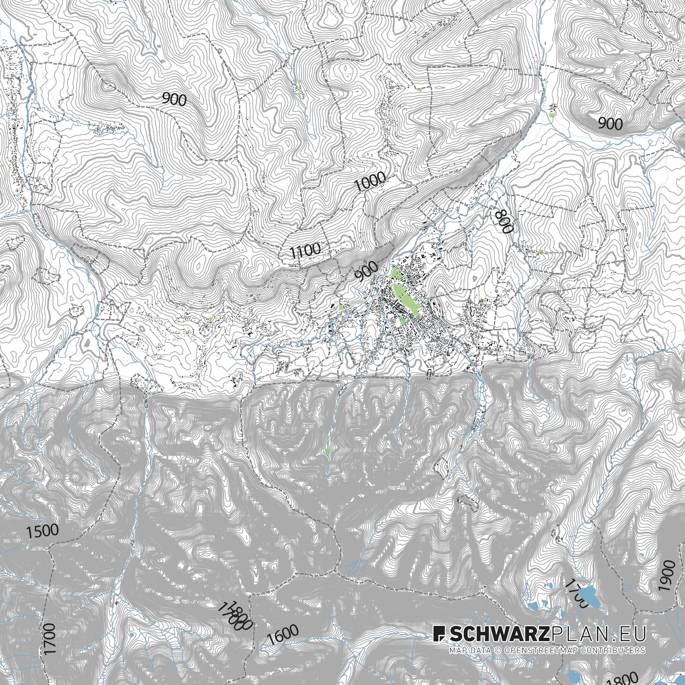 Lageplan von Zakopane in Tschechien