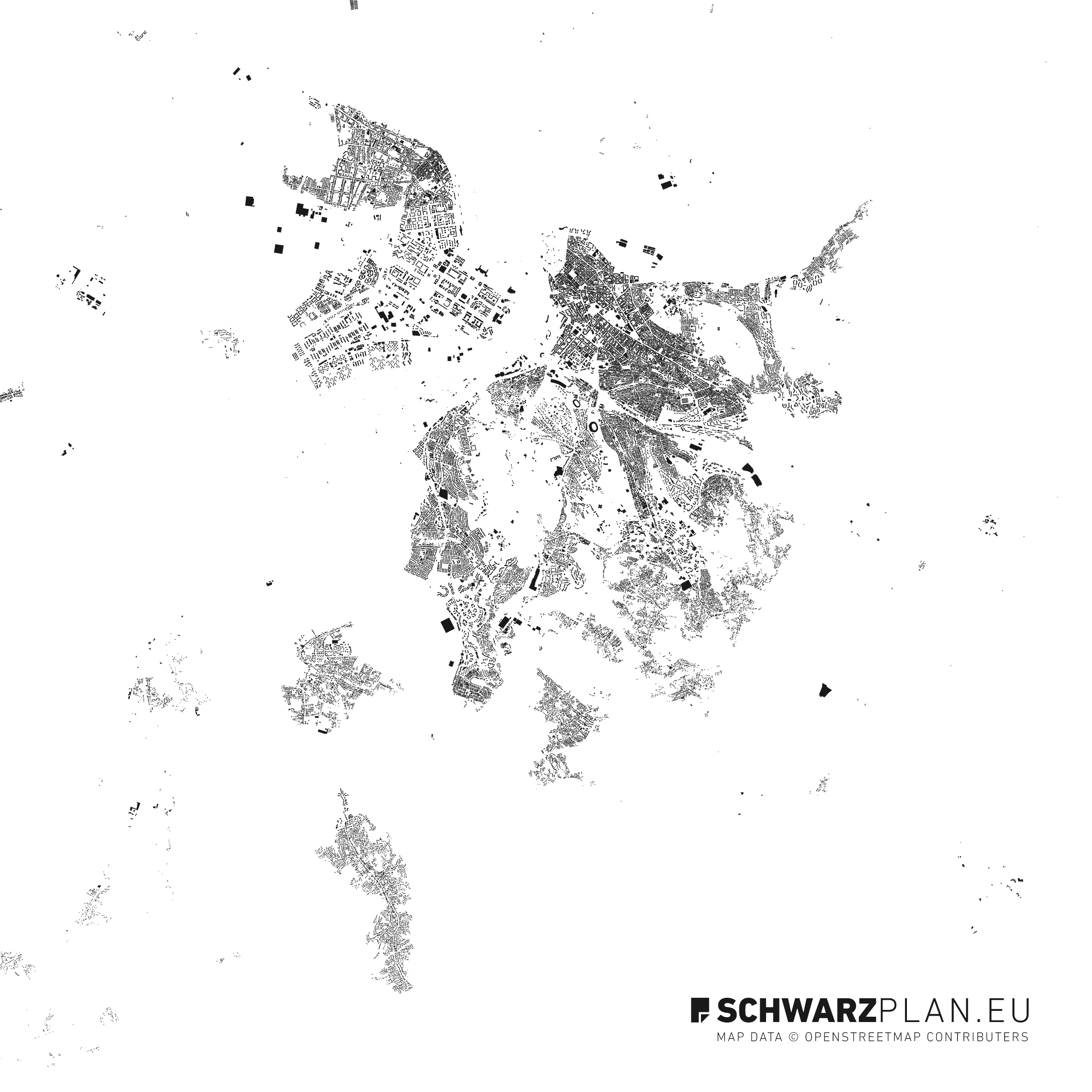 Figure ground plan of Belgrad