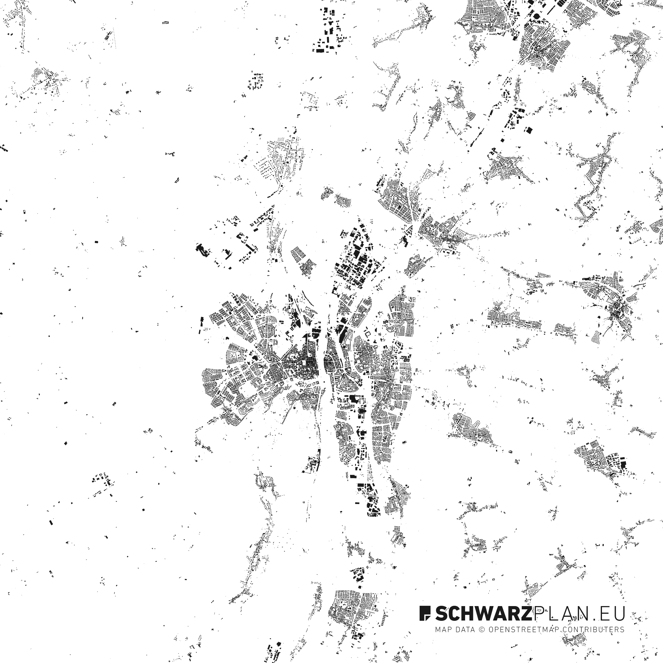 Figure ground plan of Maastricht