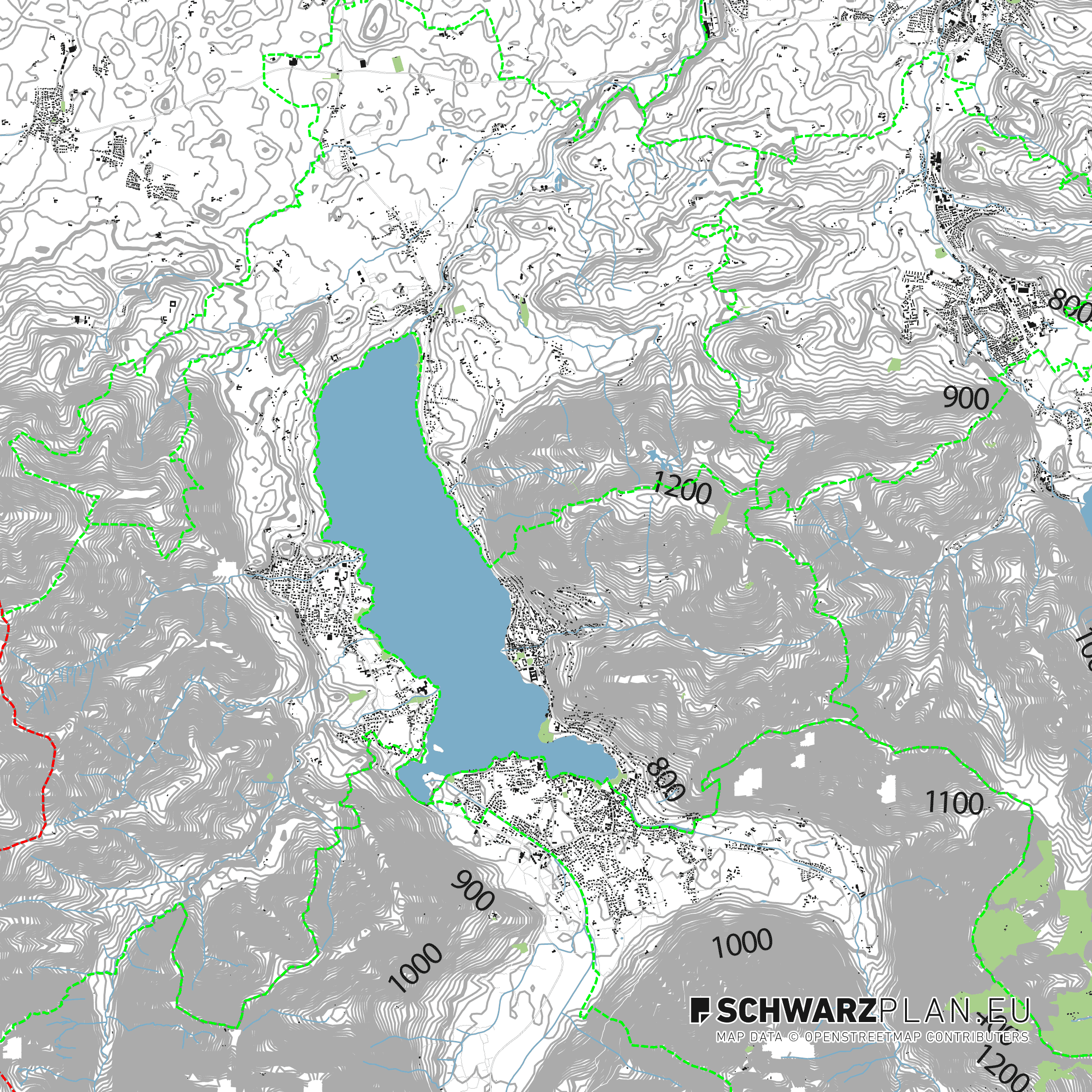Lageplan von Tegernsee