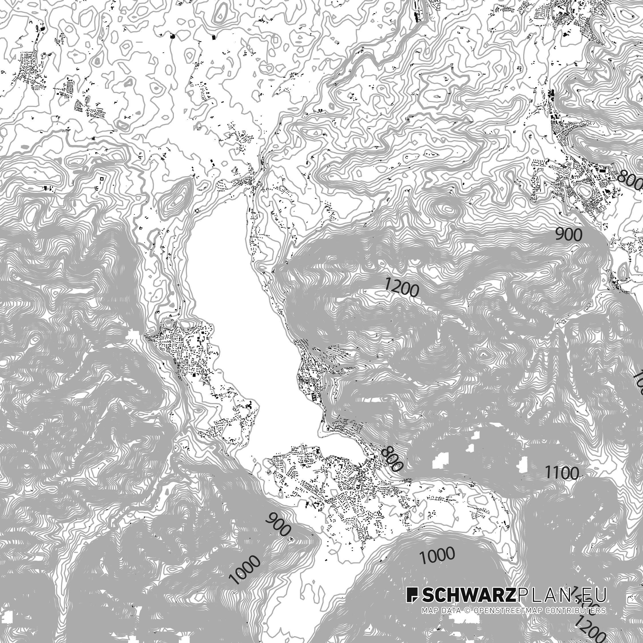 Schwarzplan von Tegernsee