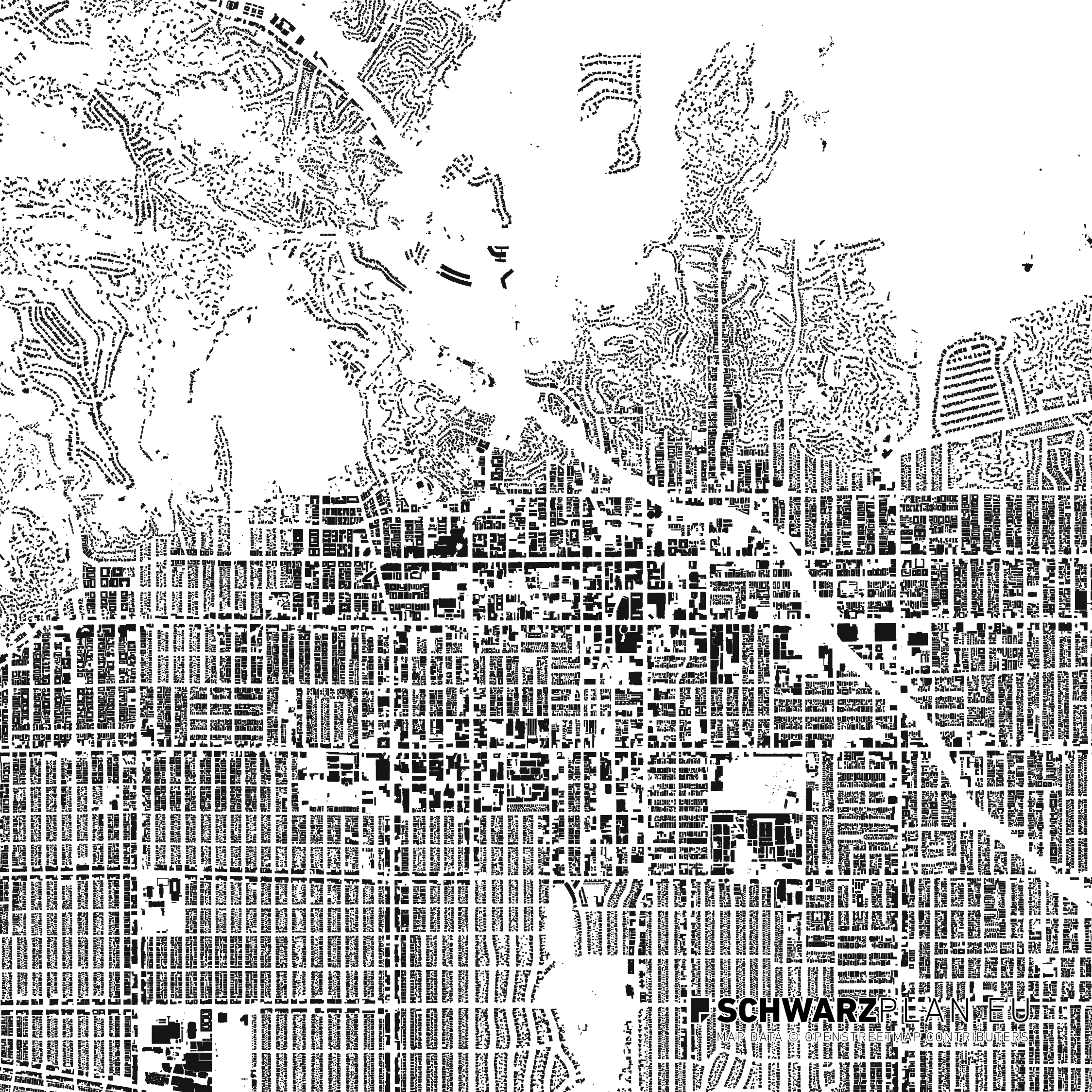 Figure ground plan of Hollywood