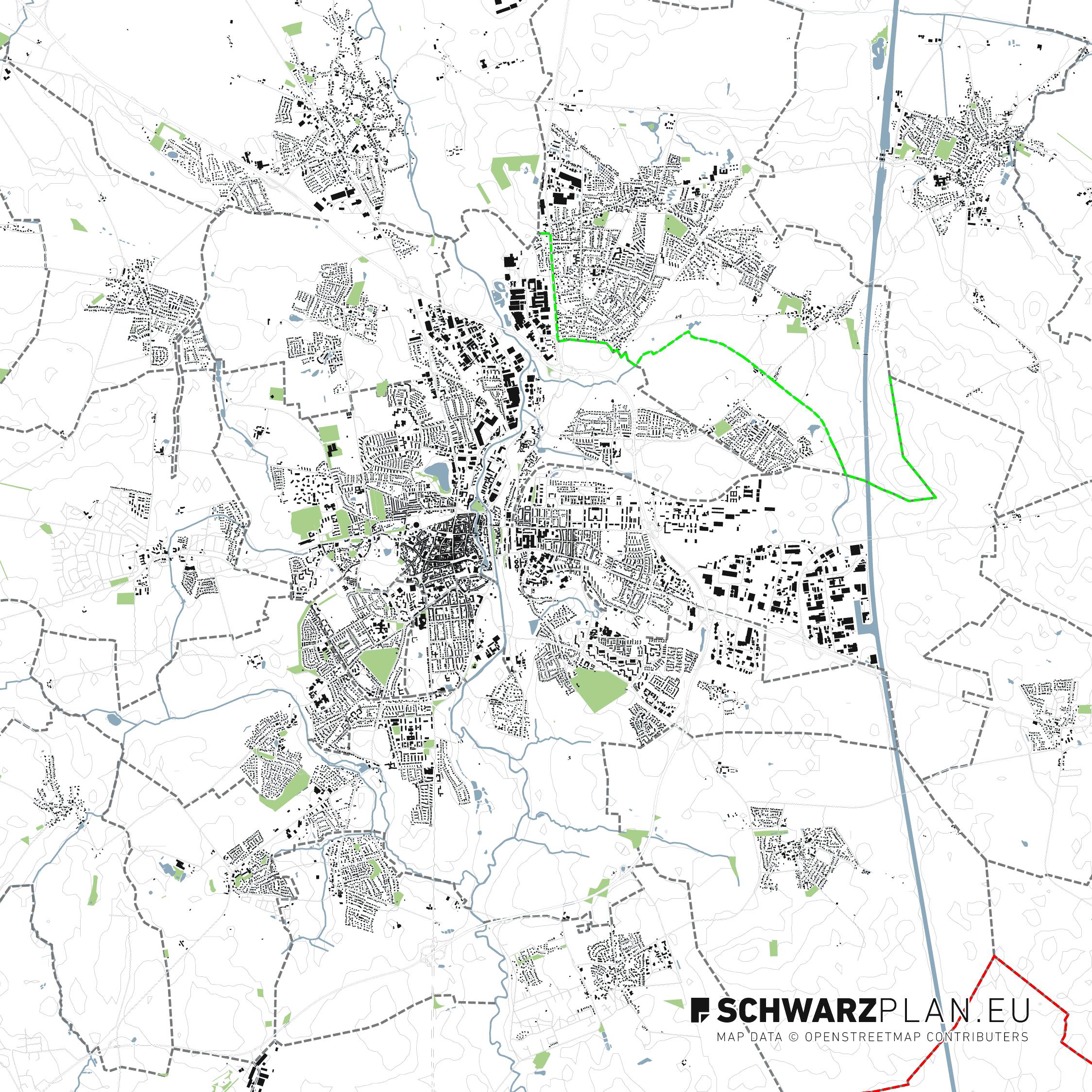 Lageplan von Lüneburg