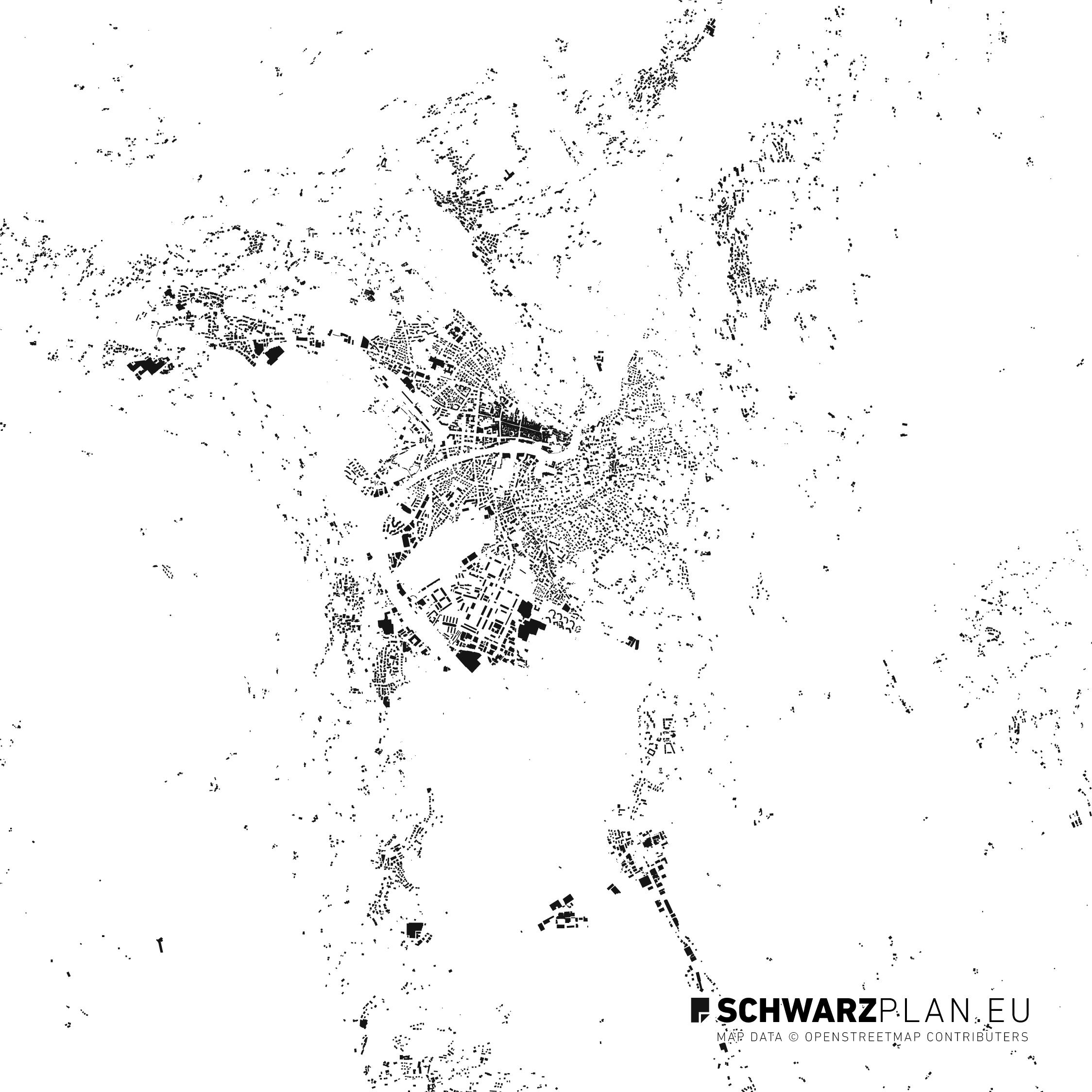 Figure ground plan of Meran