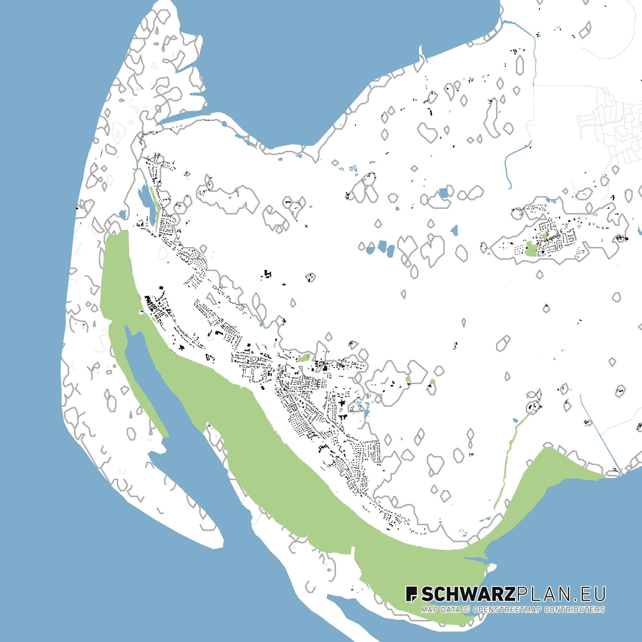 Lageplan von St. Peter Ording