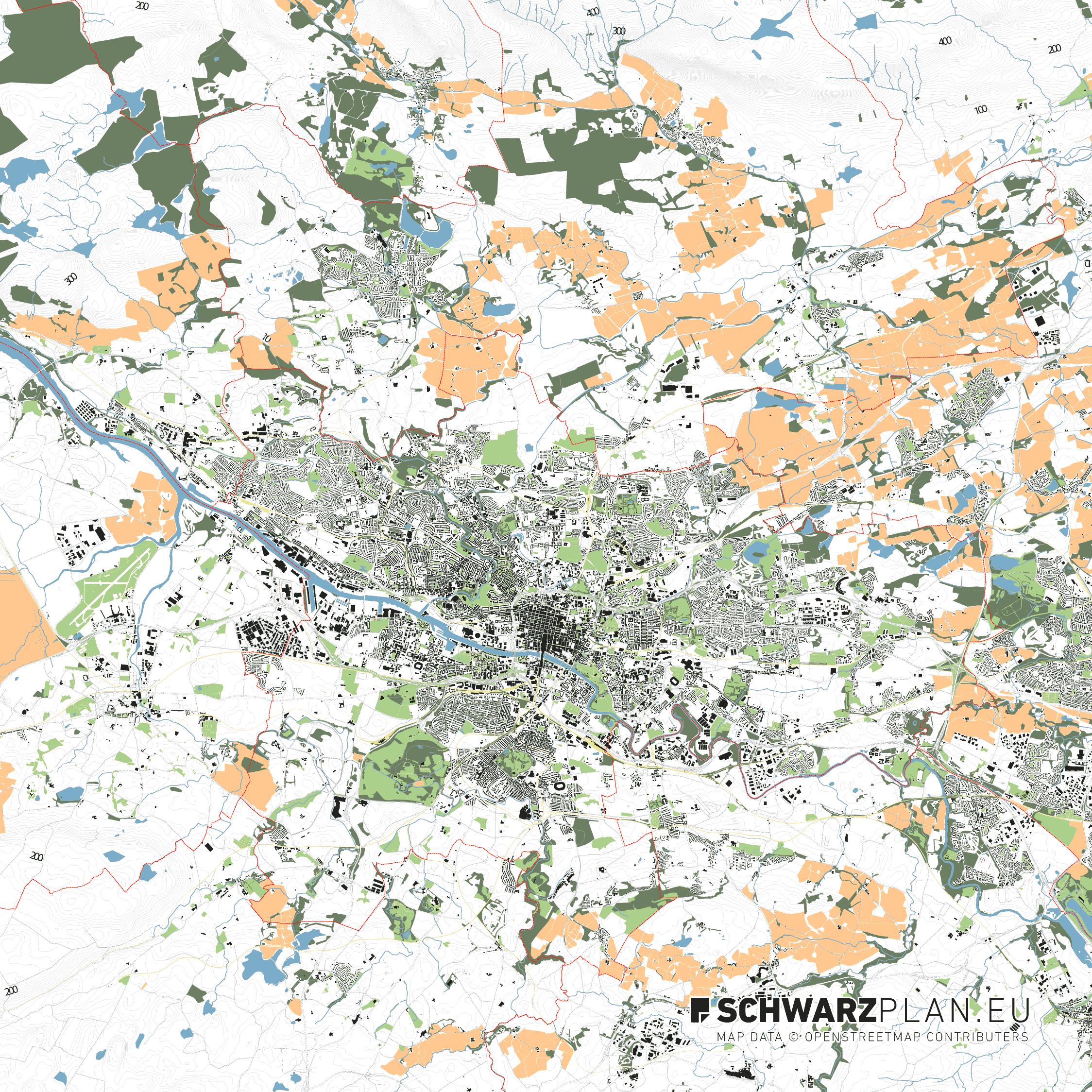 Lageplan von Glasgow in Schottland