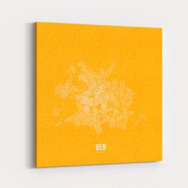 Minimalistischer Stadtplan von Berlin - gelb/weiss