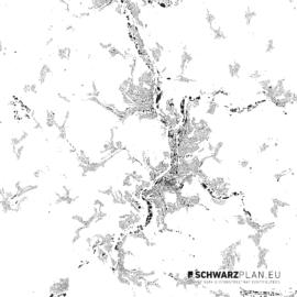 Schwarzplan von Siegen