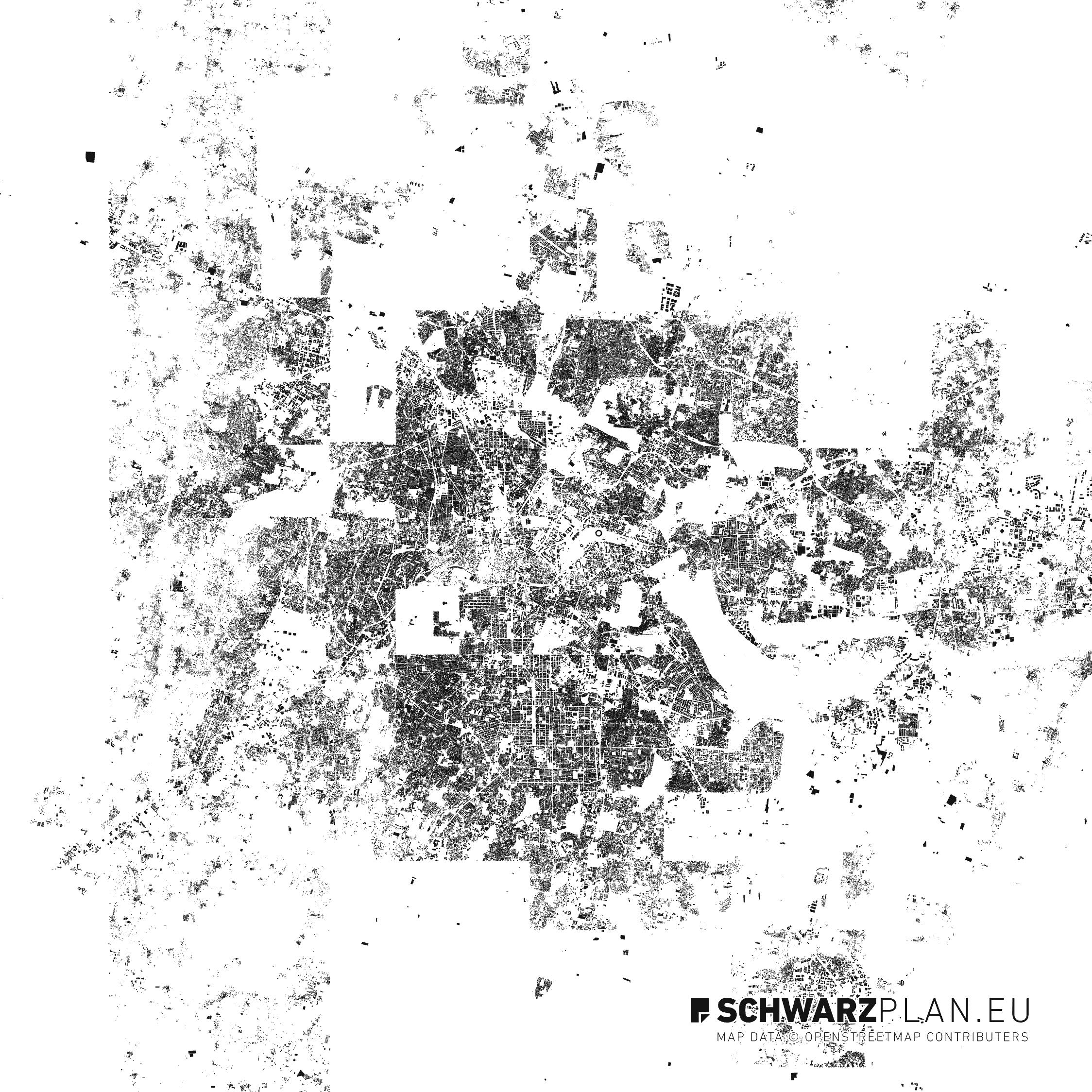 Nolli plan of Bengaluru