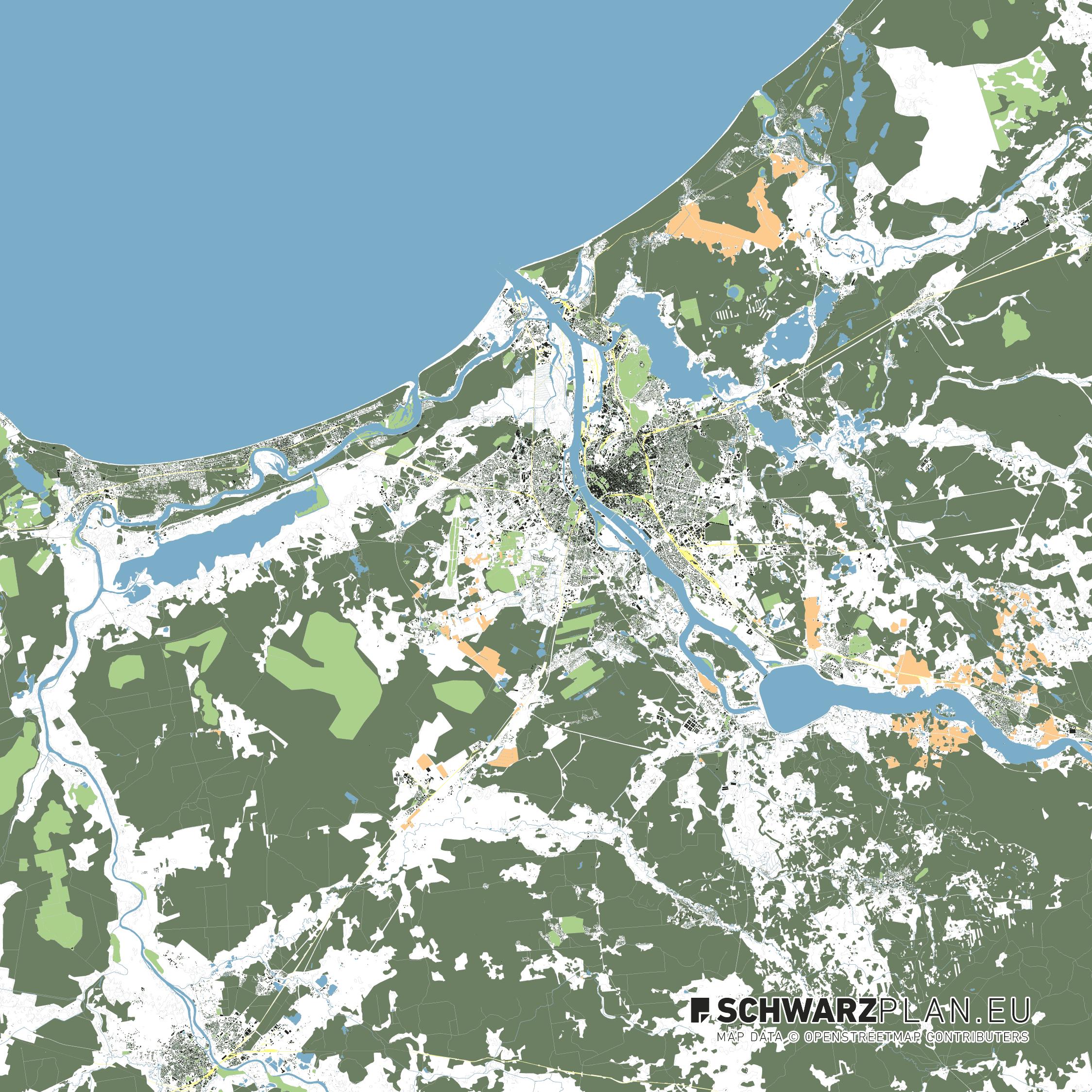 Lageplan von Riga