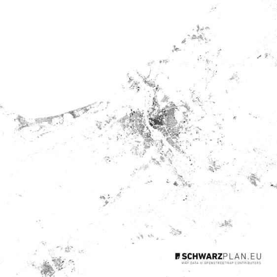 Schwarzplan von Riga
