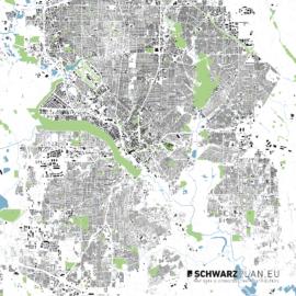Lageplan von Dallas in den USA