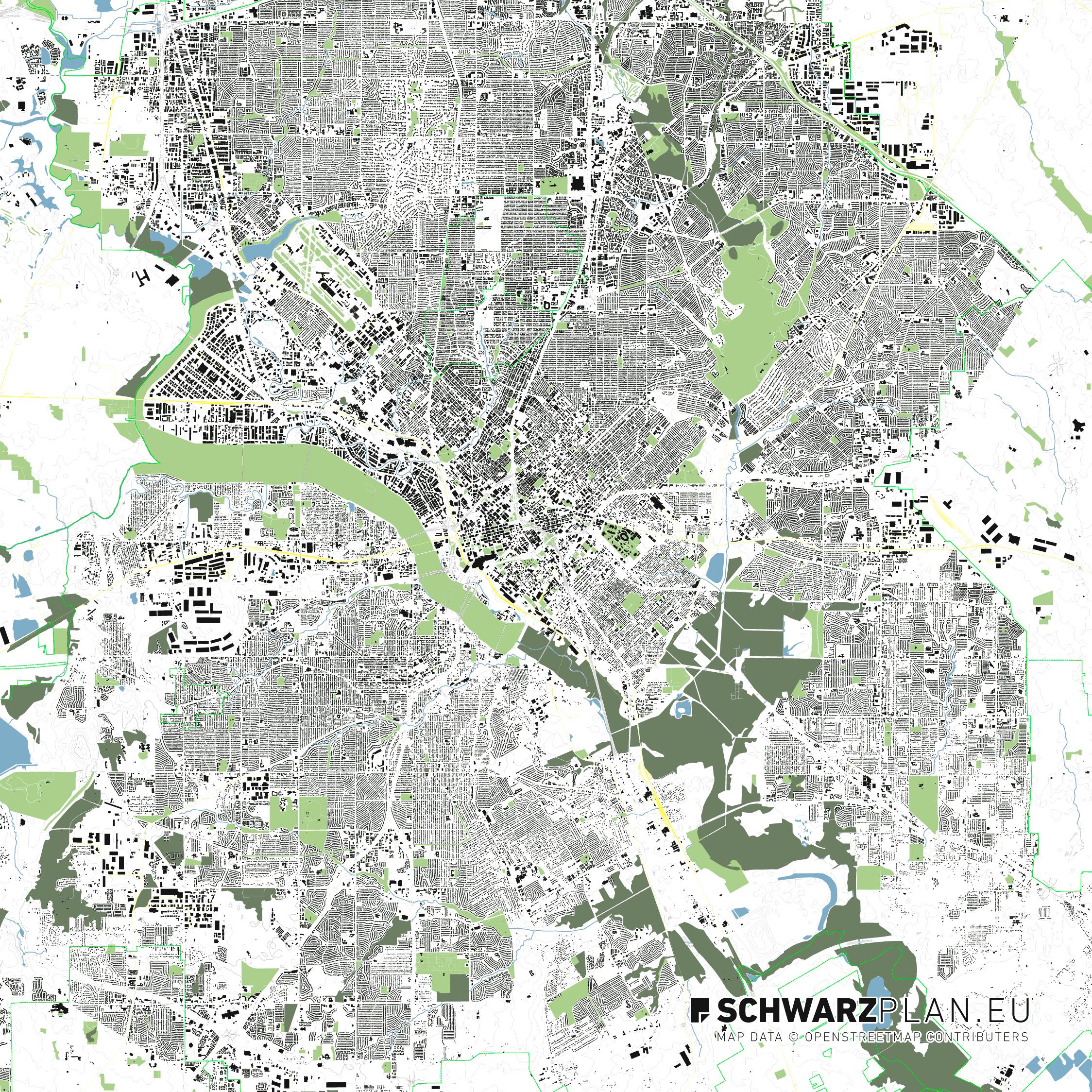 Site plan of Dallas