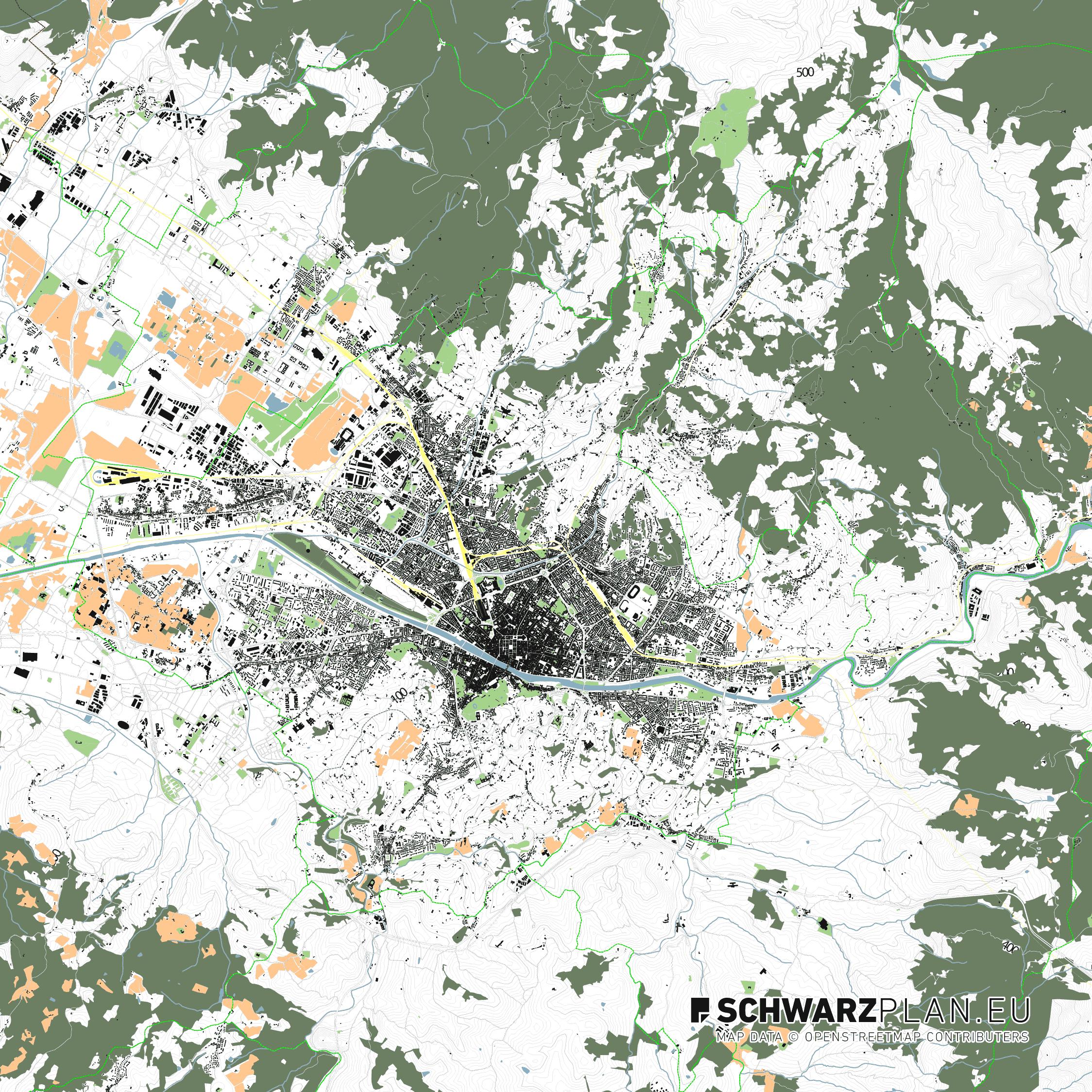 Stadtplan von Florenz in Italien