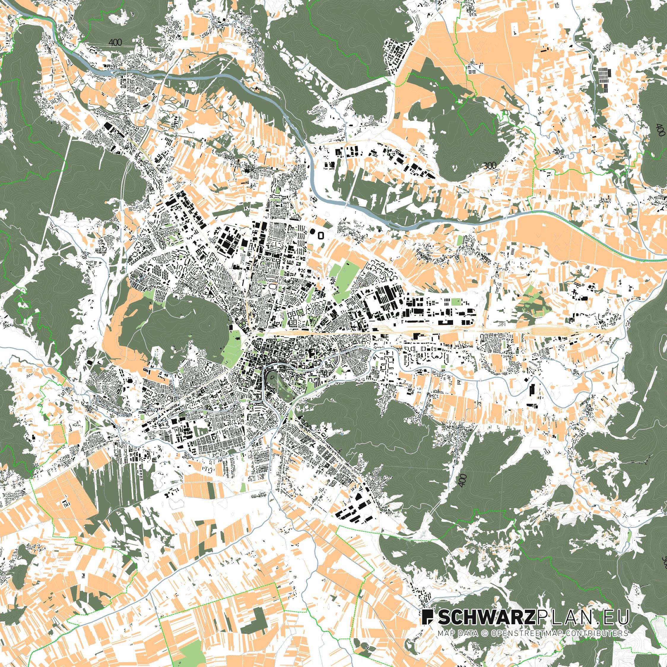 City map of Ljubljana