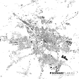 Schwarzplan von Bukarest