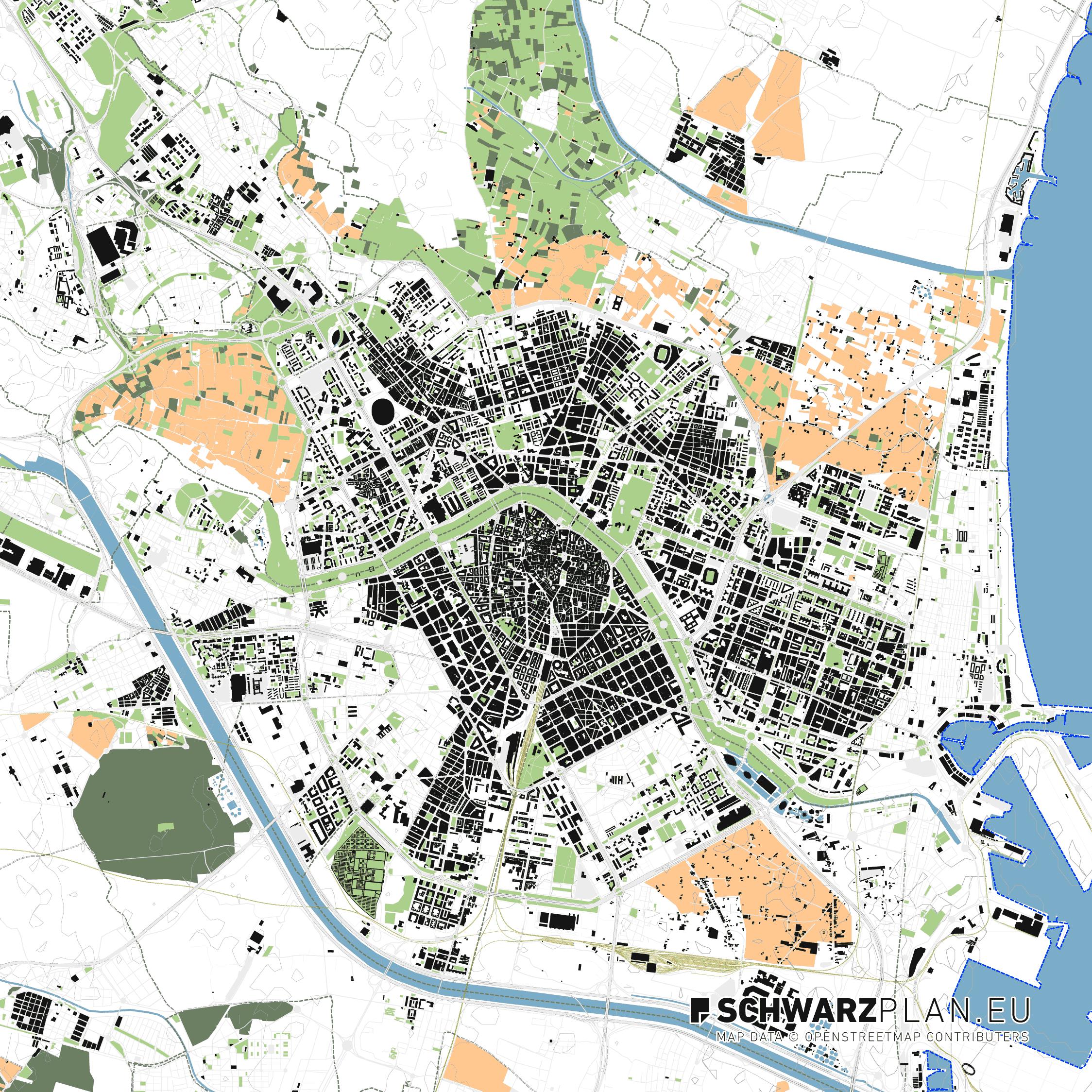 Lageplan von Valencia