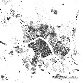 Schwarzplan von Valencia