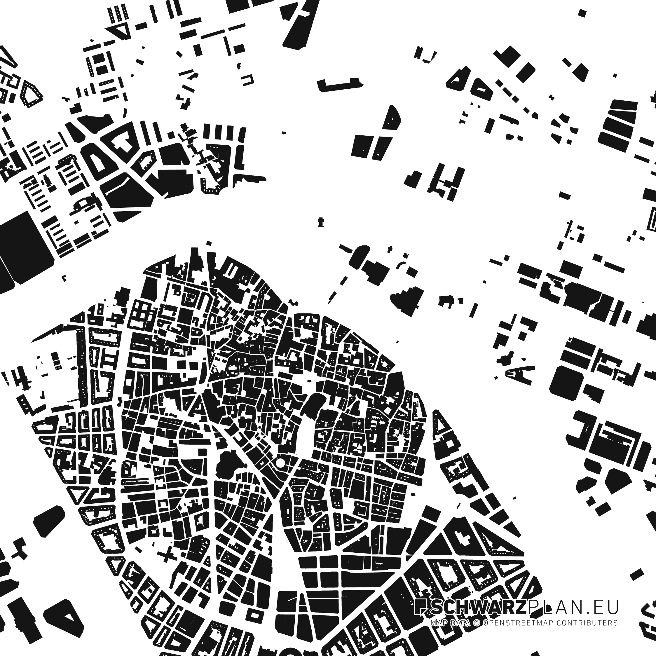 Figure ground plan of Valencia