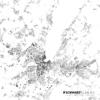 Schwarzplan von Genf in der Schweiz