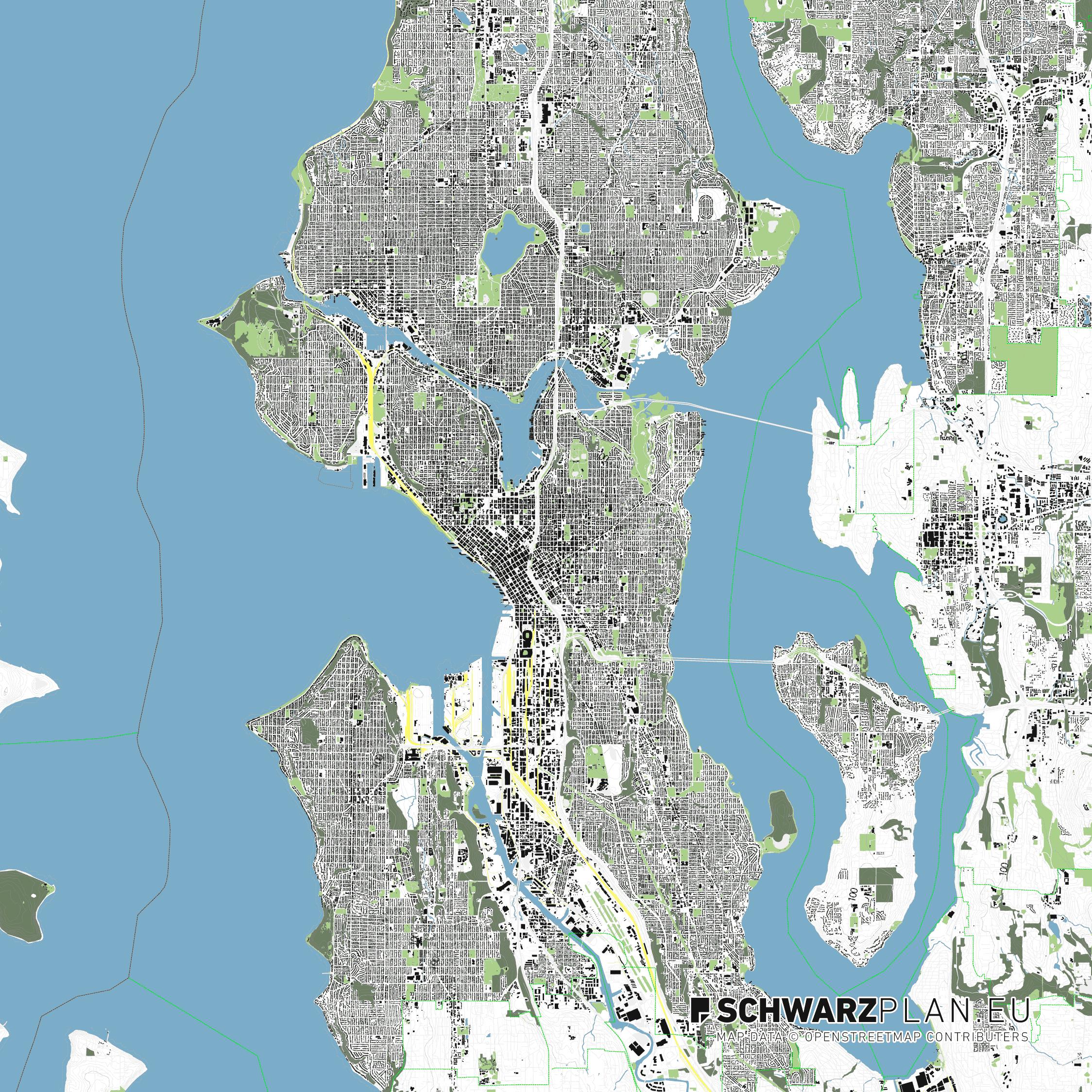 Lageplan von Seattle