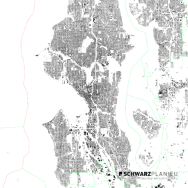 Schwarzplan von Seattle