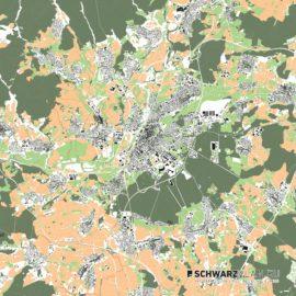 Lageplan von Gießen