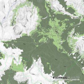 Lageplan von den Dolomiten / Cortina d'Ampezzo