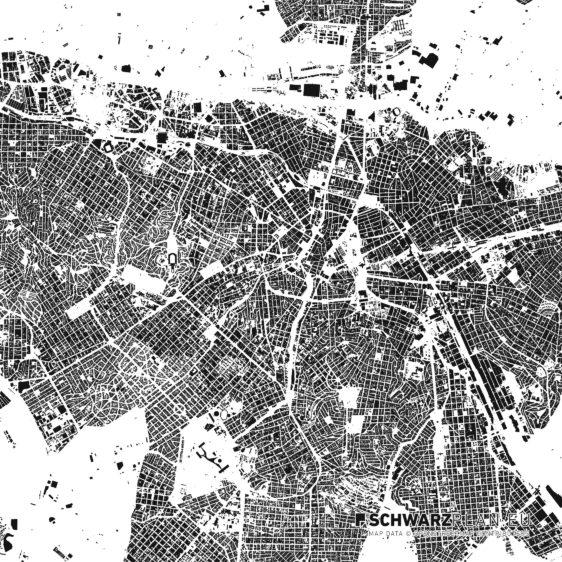 Schwarzplan von Sao Paulo in Brasilien