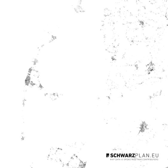 Schwarzplan von der Insel Sylt
